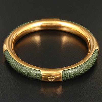 Vintage Gucci Snake Skin Bangle Bracelet