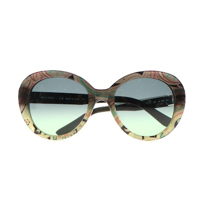ETRO ET609S Paisley Modified Cat Eye Sunglasses with Case and Box