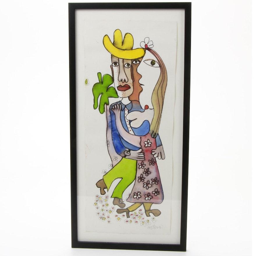 Cuban-Inspired Watercolor Artwork