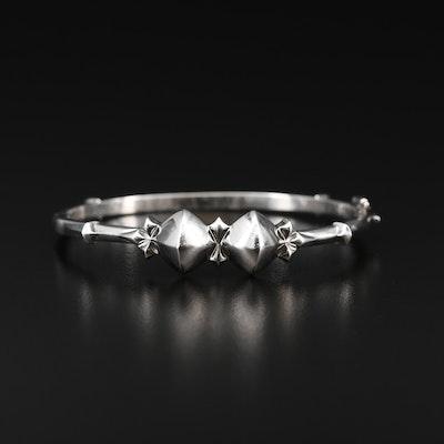 Stephen Dweck Sterling Silver Hinged Bracelet