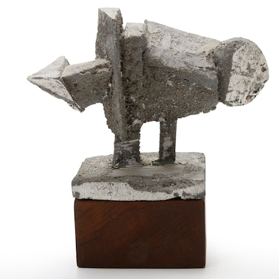 "Thomas Sternal Cast Aluminum Sculpture ""Mutation III"", Late 20th Century"
