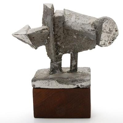 "Thomas Sternal Cast Aluminum Sculpture ""Mutation III"", Late 20th Century"