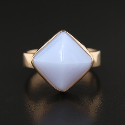 14K Chalcedony Sugarloaf Ring
