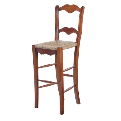 English Rush Seat Counter Height Chair