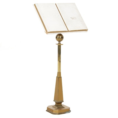 Brass Lectern Stand with Slotted Card Holder