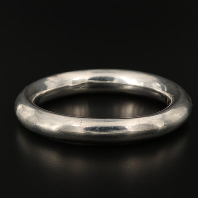 Sterling Silver Tube Bangle