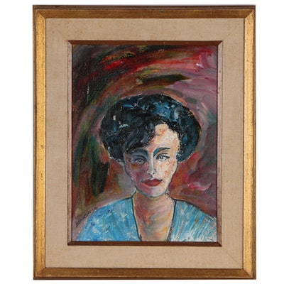 Bertha Davis Portrait Oil Painting, 1993