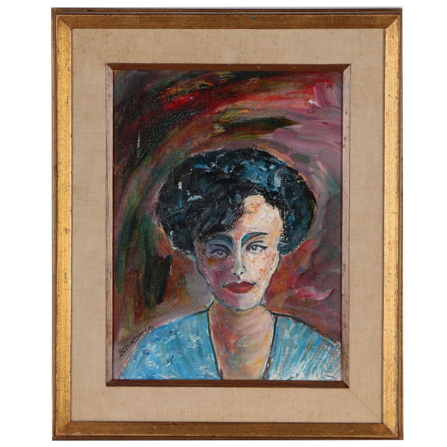 Bertha Davis Portrait Oil Painting, 1993