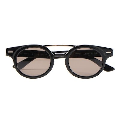 ETRO ET642S Black Horn-Rimmed Sunglasses with Case and Box