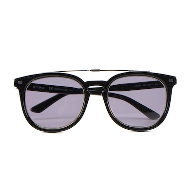 ETRO ET641S Black Horn-Rimmed Sunglasses with Case and Box