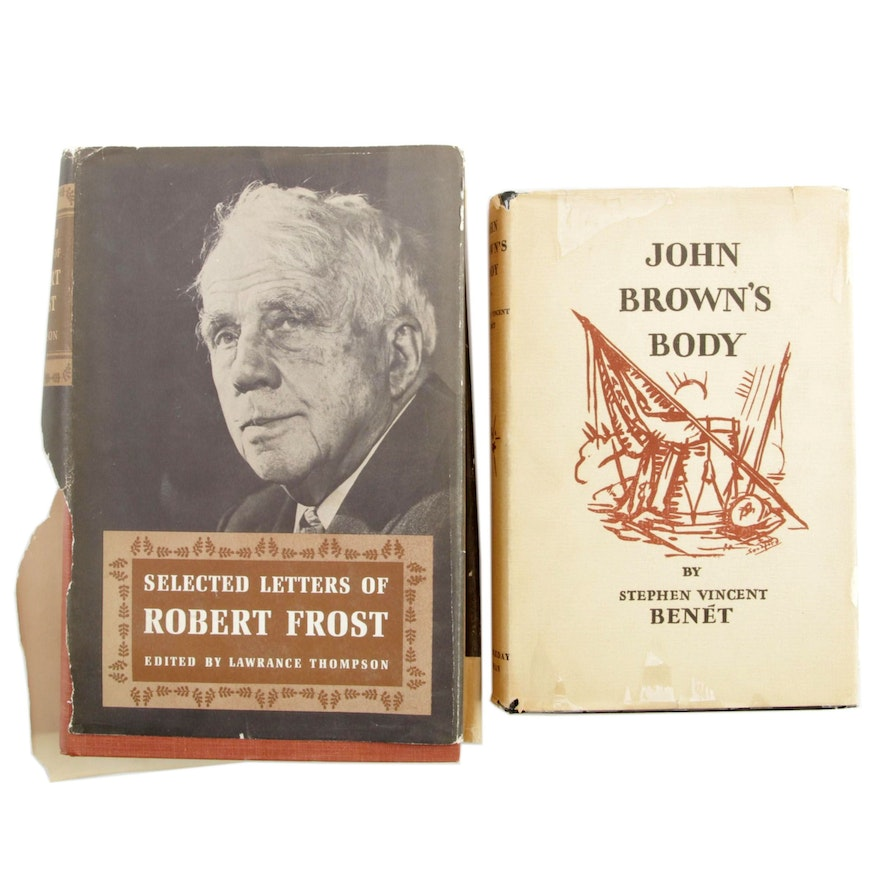 """First Editions """"John Brown's Body"""" and """"Selected Letters of Robert Frost"""""""