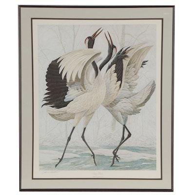 """John Ruthven Offset Lithograph """"Snow Dance"""""""