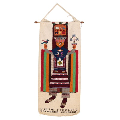 Handwoven Ecuadorian Salasaca Wool Tapestry of a Dancer