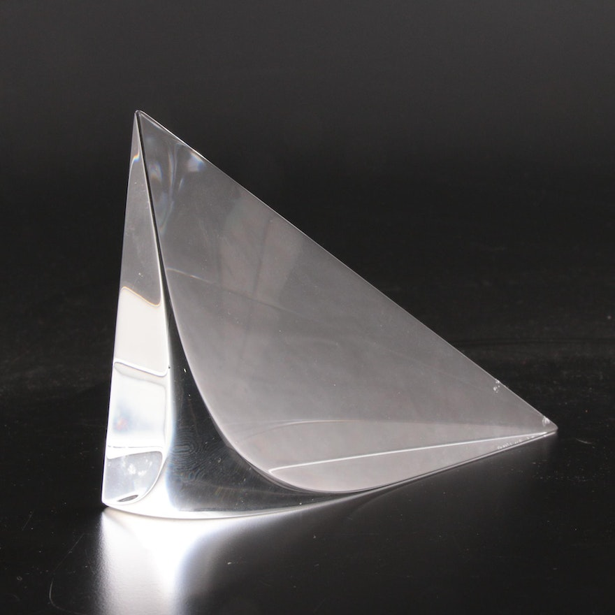 Christopher Ries Abstract Optical Glass Sculpture