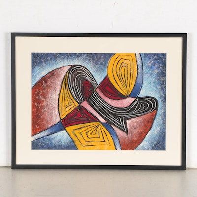 Abstract Gouache Painting, 1949