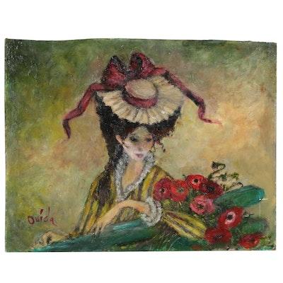 Ouida George Oil Portrait Painting