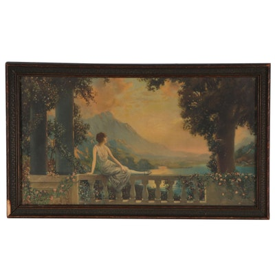 "Offset Lithograph After R. Atkinson Fox ""Sunset Dreams"", Early 20th Century"