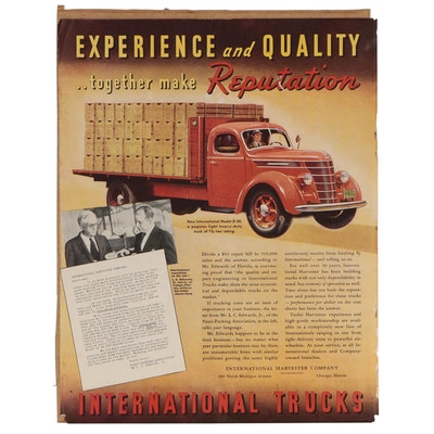 Magazine Advertisement for International Trucks, 1938