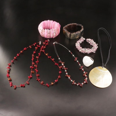 Assorted Shell and Beaded Jewelry