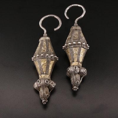 Antique Omani Sterling Silver Bedouin Earrings or Pendants