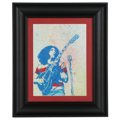 Watercolor Portrait Painting of Jerry Garcia