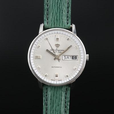 Jules Jurgensen Stainless Steel Automatic Wristwatch with Day and Date