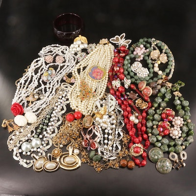 Lavish Assortment of Vintage Jewelry Featuring Coro, Judy Lee and Star