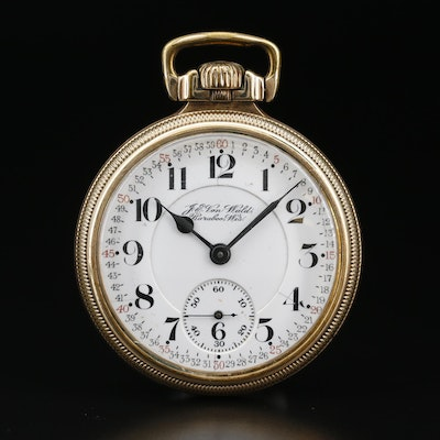 Hamilton Railroad Grade Pocket Watch For J.E. Von Weld Bereboo Wisconsin