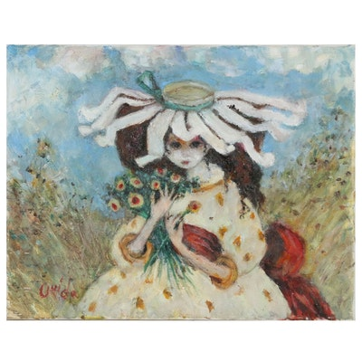 Ouida George Figural Oil Painting