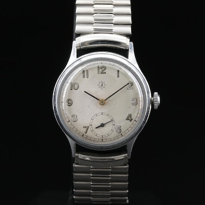 Junghans Stainless Steel Stem Wind Wristwatch