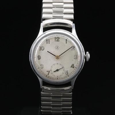 Junghans Stainless Steel Stem Wind Wristwatch