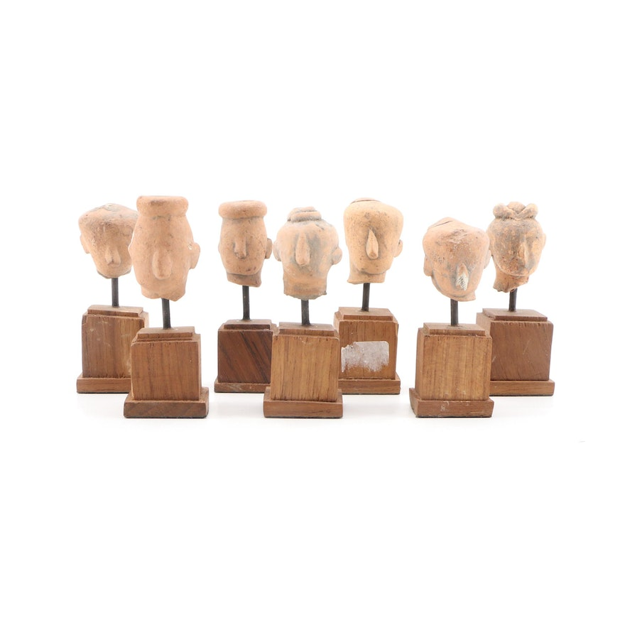 Miniature Abstract Earthenware Busts