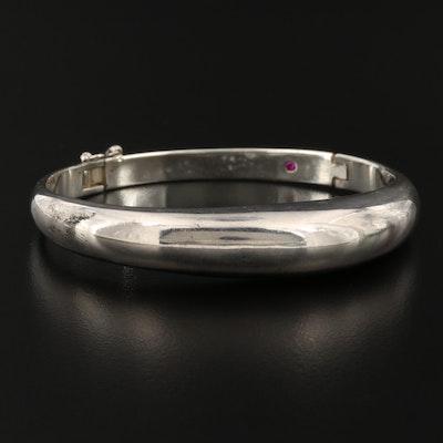 Oblong Hinged Bangle Bracelet