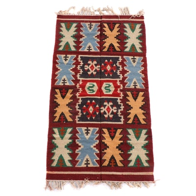 3'3 x 6'11 Handwoven Kilim Wool Rug