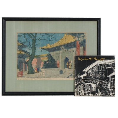 "Elizabeth Keith Woodcut ""Lama Temple Peking"", c. 1922"