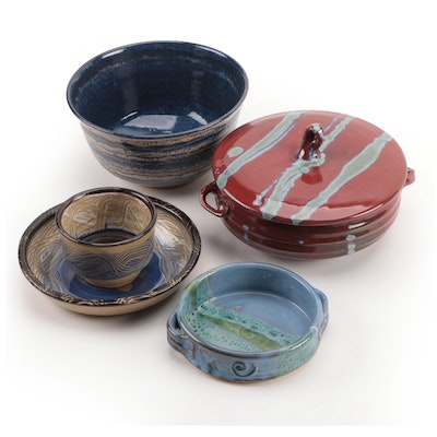 Hand and Wheel Thrown Art Pottery Bowls