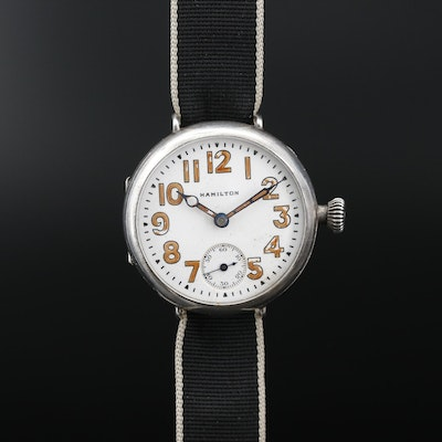 1915 Sterling Silver Hamilton Trench Watch