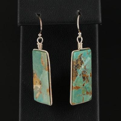 Sterling Silver Turquoise Drop Earrings