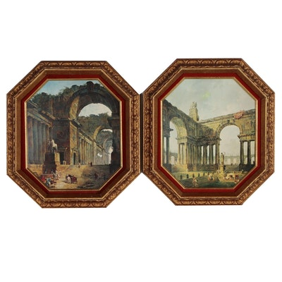 "Offset Lithographs After Robert Hubert ""The Fountains"" and ""The Landing Place"""