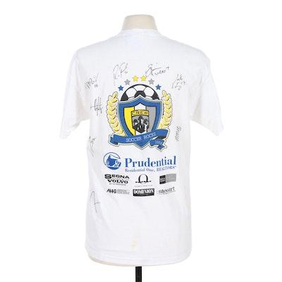 "Columbus Crew ""Soccer Rocks"" Autographed T Shirt, 2004"