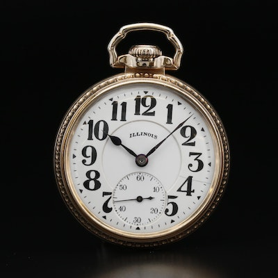 1925 Illinois Bunn Special Railroad Grade Gold Filled Pocket Watch