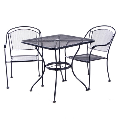 Three-Piece Wire Mesh Patio Dining Set