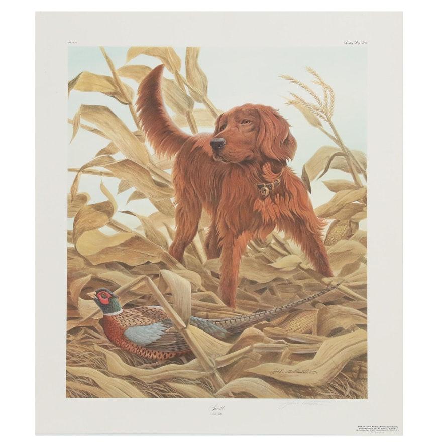 "John Ruthven Offset Lithograph ""Scarlet"", 1981"
