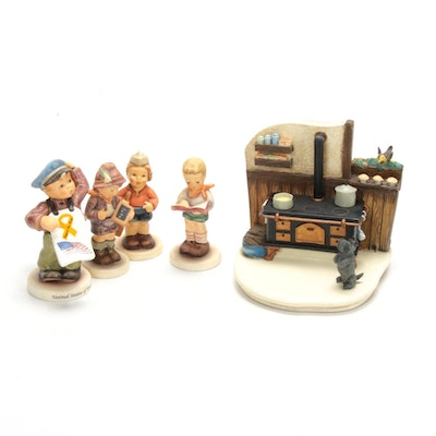 "Goebel ""Kozy Kitchen"" and Other Porcelain M.I. Hummel Figurines"