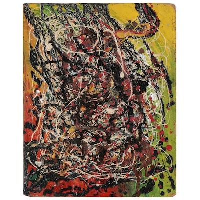 Charles Elmer Harris (Beni Kosh) Abstract Oil Painting, c. 1965