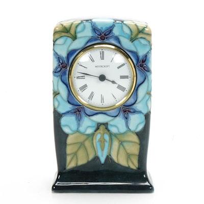 Moorcroft Floral Ceramic Mantel Clock