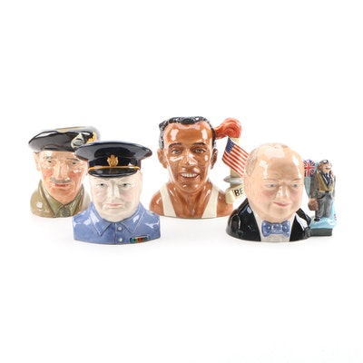 "Royal Doulton ""Jesse Owens"", ""Winston Churchill"" and Other Character Jugs"