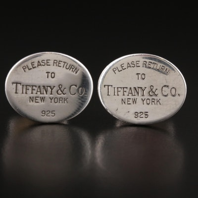 """Tiffany & Co. """"Return to Tiffany"""" Sterling Silver Cufflinks"""