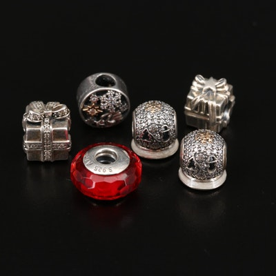 Pandora Sterling Silver Christmas Themed Charms