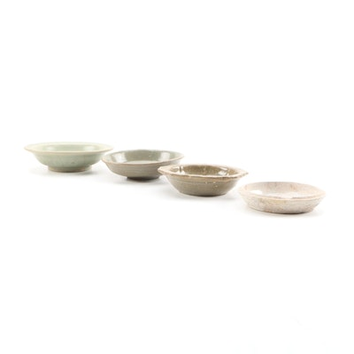 Chinese Celadon Stoneware Finger Bowls, 19th Century